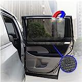 ggomaART 汽车侧窗遮阳罩 - 通用双面磁性窗帘适用于婴幼儿,*,避免阳光直射和热* - 1 件黑色网眼
