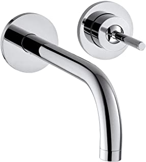 Axor 汉斯格雅 雅生 Uno 单把面盆龙头 暗装, 舒适高度 225mm, 墙面安装, 镀铬