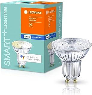 LEDVANCE 智能 LED 反射灯 带蓝牙技术 插座 GU10 暖白 (2700 K ) 可调光 替换反射灯 40 W SMART+ Spot GU10 可调光 1 件装