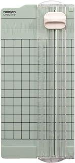 Vaessen Creative 2137-062 迷你切纸机 薄荷绿 6.5 × 15.3 厘米 小型切纸机 带数据以厘米和英寸为手工制作纸张,6.5 × 15.3 厘米