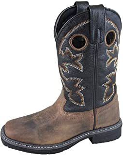 Smoky+Children%27s+Kid%27s+Stampede+Brown+and+Black+Leather+Westtern+Cowboy+Boot