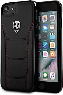法拉利 FEH488HCI8BK 真皮手机套适用于苹果 iPhone 8/7 - 黑色