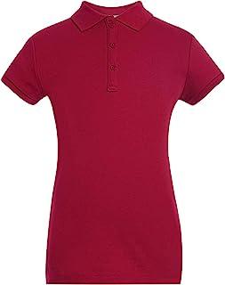 Tommy Hilfiger 短袖双面布大女童修身 Polo 衫