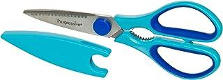 Progressive-KT-4008 厨房剪刀 带刀片套 蓝色