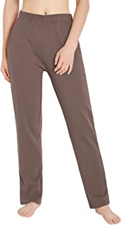 Weintee 女式棉质运动裤带口袋针织裤
