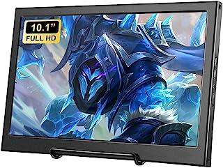 10.1 英寸便携式显示器 HDMI *监控器 高清 1366 x 768 TFT LCD 彩色电脑显示器带 HDMI VGA AV BNC 输入,适用于 Raspberry Pi Mini PC、相机、* 监控、游戏控制台显示屏