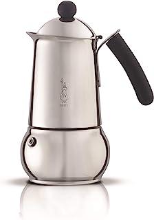 Bialetti 4645 Class Induktion 浓缩咖啡机,可制作10杯,不锈钢,银色,30 x 20 x 15厘米