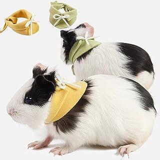 TOOCN 2 件豚鼠衣服,切割豚鼠头巾-小动物衣服,适用于雪貂、兔子、松鼠、蜥蜴照片道具服装配饰