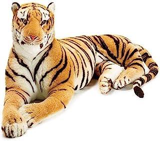 巨人毛绒 Lying Tiger 8 英尺长大吉祥物,适合老虎粉丝
