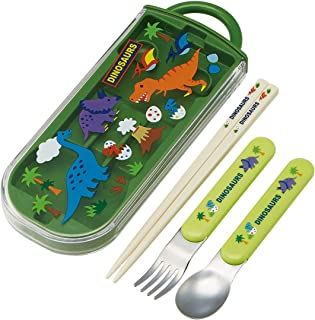 Skater 斯凯达 便当筷 儿童用 三件套 筷子 汤匙 叉子 恐龙 16.5厘米 TACC2-A