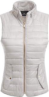 MixMatchy 女式加垫背心轻质立领拉链绗缝马甲