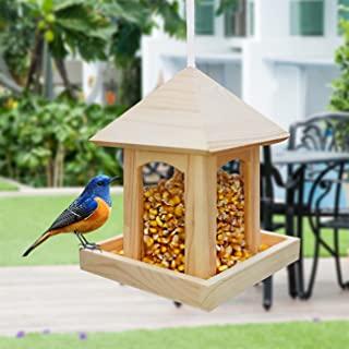 鸟喂食器带室内设计,鸟类喂食器悬挂野生鸟类种子喂食器花生坚果喂食器适用于小鸟花园户外,花园装饰