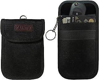 Faraday 钥匙扣包 2 件 RFID 屏蔽袋 Wisdom Pro 钥匙扣保护黑色