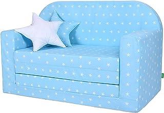 Lulando 经典儿童沙发 儿童沙发椅 沙发床功能 儿童家具 *玩耍 Sternchen Blau