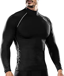 DRSKIN 男式保暖冬季羊毛 ColdGear 压缩内衣 长袖下装 T 恤