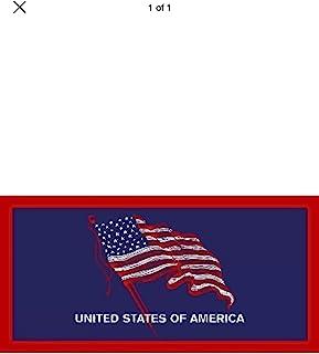 经典美国国旗丝绒巴西海滩浴巾 76.2x152.4 cm