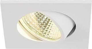 SLV LED 天花板嵌入式射灯 NEW TRIA 68 I 嵌入式灯 天花板灯 方形 单个 CS COB 夹式弹簧 铝 白色 可旋转吸顶灯 室内