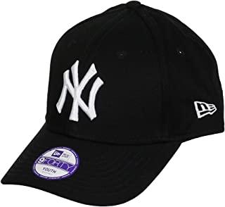 New ERA 男孩儿童 MLB 基本款 NY yankees 9forty 可调节黑色棒球帽