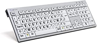 LogicKeyboard LKB-LPRNTBW-AJPU-FR 键盘,XL-Print Slim Alu on (PC) 银色/白色/黑色