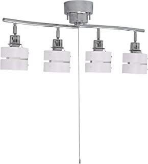 A-stage 吸顶灯 4 灯 聚光灯 拉开关 支持LED 灯 简单安装 可折叠 角度可调 室内照明 间接照明 时尚 北欧 白色 GLL-4MP-W