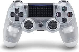 PS4 游戏手柄,适用于 Playstation 4 DualShock 无线控制器 - 水晶