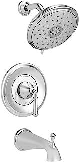 American Standard TU052508.002 Delancey 节水浴室和淋浴装饰套件,带墨盒,抛光镀铬