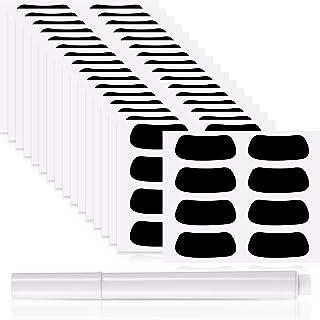 Eye Black Strips 运动黑眼贴纸透气眼黑色条纹带 1 支白色铅笔,适合棒球足球、垒球、曲棍球爱好者在比赛日(72 双)