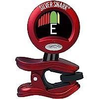 Snark 红色银色吉他夹所有乐器调谐器(SIL-RED)