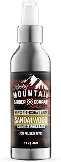 Rocky Mountain Barber Company 剃须后膏 – 含天然檀香精油 – 5 盎司(约 141.7 克) – 保湿面霜,防止剃须*和干燥皮肤