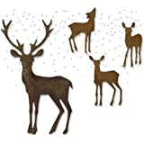 Sizzix Thinlits 冲压模板套装 5 件 - 冬季仙境由 Tim Holtz 制造,钢,多色,19.1 x…
