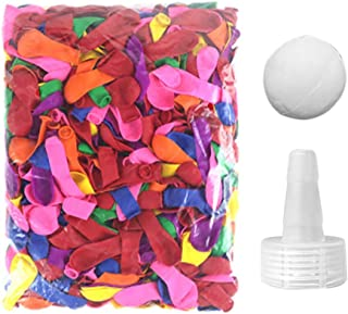 LACKINGONE 100 件水上运动水球补充套件可生物降解水球带水气球软管适配器适用于快速填充气球水上花园游戏,适合儿童和成人