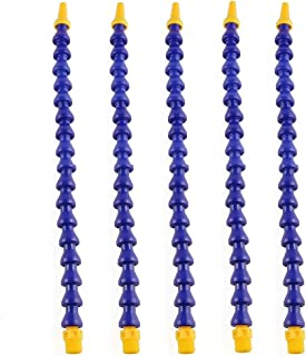 5 件 1/4 英寸(约 0.6 厘米) PT 螺纹柔性水油冷却剂管软管带开关圆形喷嘴可调节冷却管*软管,适用于数控机床、车床、铣削、液压机械和水冷系统
