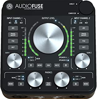 Arturia AudioFuse Rev2 USB 音频接口 - 黑色