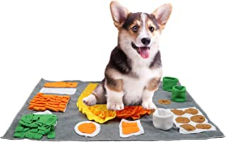 HDNCTL 宠物狗鼻垫, 狗喂食游戏的鼻垫, 狗狗拼图玩具训练鼓励自然觅食技能, 耐用互动游戏喂食垫,适合小型/中/大型犬