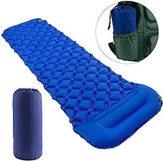Star Smart 睡垫 适用于野营充气背包垫 带枕头 超轻耐用野营床垫 徒步空气垫 露营睡垫 适用于徒步旅行和户外活动