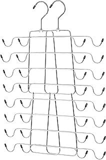 Ideal Life 背心衣架金属折叠节省空间的衣架衣柜收纳袋适用于背心、吊带、文胸、泳衣、腰带、领带、2 件装