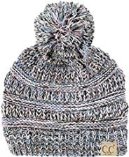 Funky Junque CC 兒童嬰兒幼童針織兒童絨球冬季帽子無檐小便帽