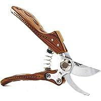 20.32 厘米专业修剪剪刀旁通修剪刀带 SK5 不锈钢刀片手工修剪刀适用于花园、葡萄园、水果森林 木色