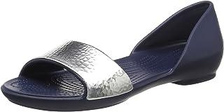 Crocs 卡骆驰 女士Linaembdrsayflt芭蕾平底鞋