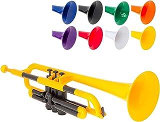 pBone Jiggs pTrumpet 塑料小号,带 Gig Bag 和 3C 和 5C 吹嘴,黄色,(PTRUMPET1Y)
