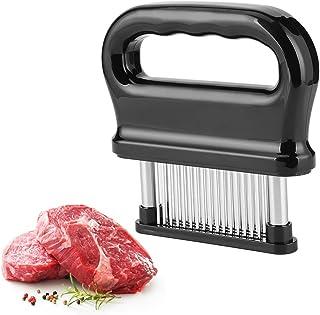 Meat Tenderizer 48 不锈钢超锋利针刀片嫩肉器适用于牛排,牛肉带清洁刷,耐用烘焙厨房配件