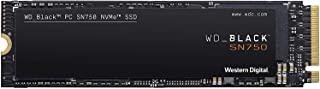 Western Digital WD_黑色 SN750 1TB NVMe内置游戏固态硬盘-第三代 PCIe,M.2 2280,3D NAND-WDS100T3X0C