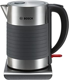 Bosch 博世 无线电水壶 TWK7S05,自动关闭,过热保护,自动蒸汽停止,清洗方便,1.7L,2200W,黑/灰色