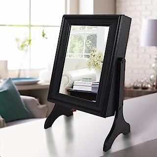 Lux Home 桌面珠宝装甲收纳盒带镜(黑色)