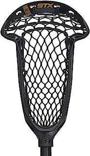 STX Lacrosse Axxis Strung 抽绳头 带 Crux Mesh Pro 口袋,黑色
