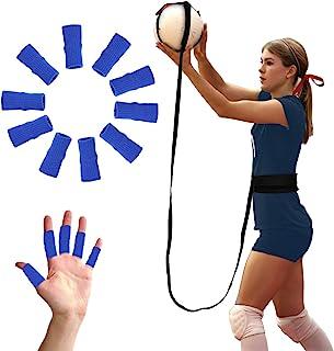 BFVV 排球训练器材辅助 - 服务单人练习和手臂挥杆训练器 10 个手指保护,包括送给女儿、排球运动员、姐妹、朋友的礼物。