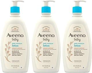 Aveeno 艾惟诺 儿童每日保湿乳液,含胶体燕麦和 二甲基硅油,18 液体盎司,531毫升 X 3,54.0 液体盎司(包装可能有所不同)