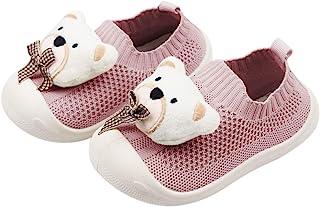 DEBAIJIA 学步鞋 1 – 5 岁 婴儿学步儿童 可爱熊 TPR 材质 一脚蹬运动鞋 软底 防滑网眼 透气运动鞋