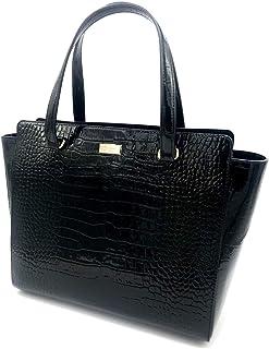 [凯特丝蓓] Kate Spade Elissa Bristol Drive Croc 黑色皮革包 WKRU6070