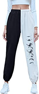 WDIRARA 女式双色图案印花松紧腰口袋运动裤